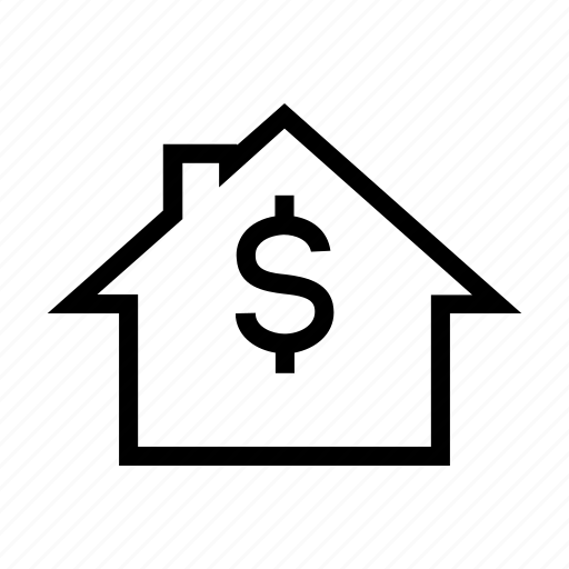 cost, evaluation, foreclosure, house, mortgage, sale icon