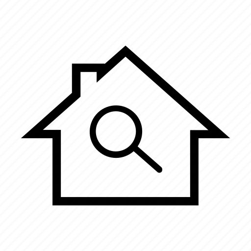 find, house, property, real estate, search icon