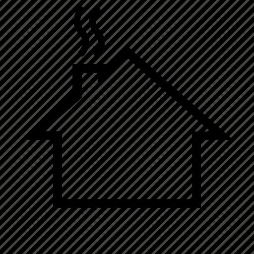 chimney, heating, house, smoke icon