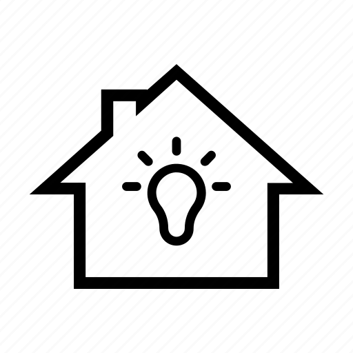 bulb, electric, electricity, energy, house, lamp, light icon