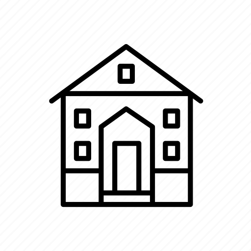 building, dwelling, home, house, terrace, townhouse icon