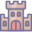 castle, security, shield, tower icon