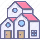 building, house, houses icon