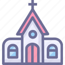 building, catholic, church, house icon