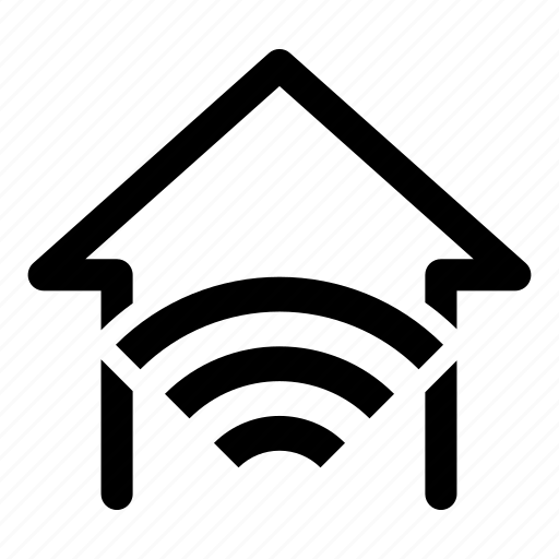 connected, home, house, wifi icon