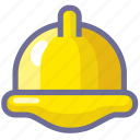 construction, hat, project, worker icon