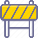 barrier, block, construction, prevent icon