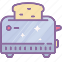 bread, device, electronic, house, kitchen, toaster