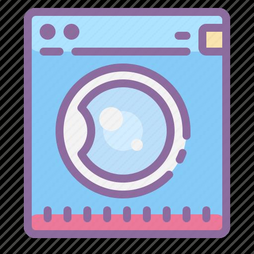 bathroom, home, house, interior, laundry, machine, washing icon
