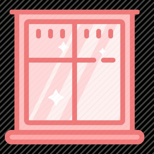exterior, glass, home, house, interior, window icon