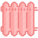 climate, heat, home, house, interior, radiator, warm icon