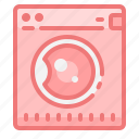bathroom, home, house, interior, laundry, machine, washing icon