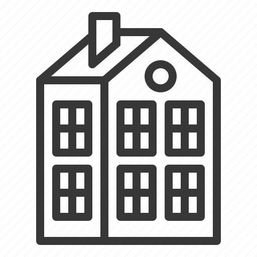 building, construction, estate, home, house, real estate icon