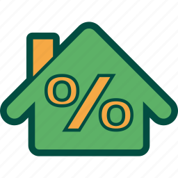 discount, home, house, percentage, sell icon