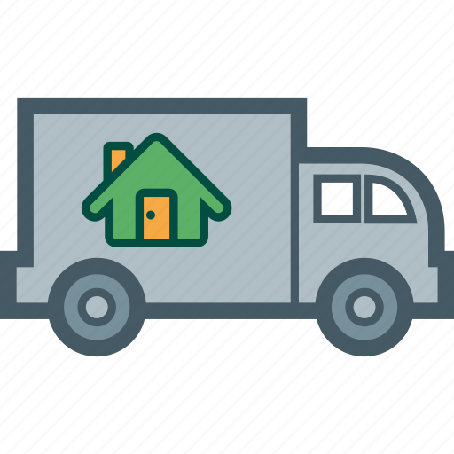 home, house, move, property, truck icon