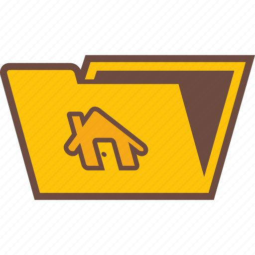 folder, home, house, papers, property icon