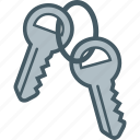 home, house, keys, pair icon