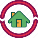 home, house, property, renew, renovate icon