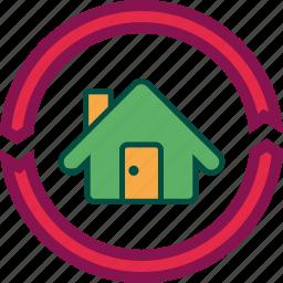 home, house, property, renew, renovate icon