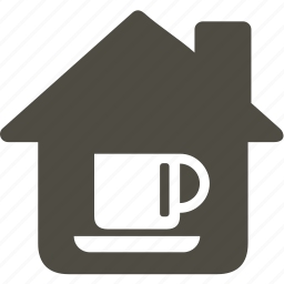 architecture, building, cup, home, house icon