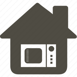 architecture, building, home, house, microwave icon
