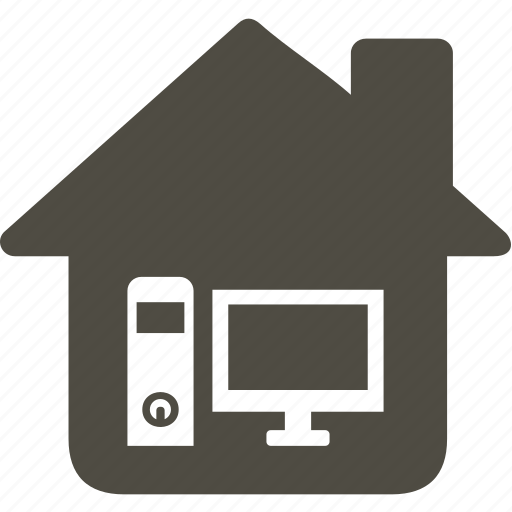 architecture, building, computer, home, house icon
