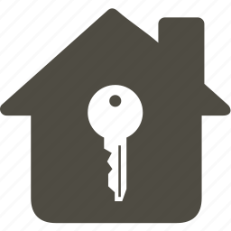 architecture, building, home, house, key icon