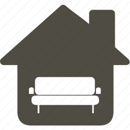 architecture, building, home, house, sofa icon