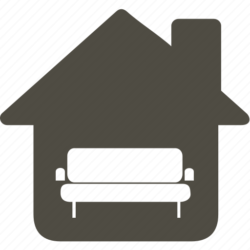 architecture, building, home, house, sofa icon