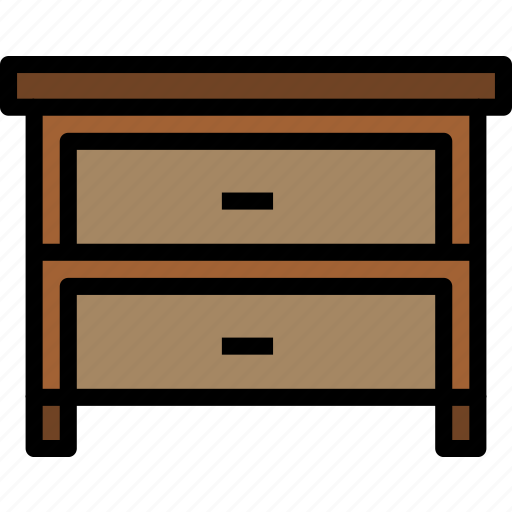 drawer, equipment, furniture, home, household, object icon