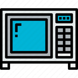 appliances, equipment, home, household, kitchen, microwave, object icon