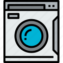 appliances, equipment, home, household, machine, object, wash icon