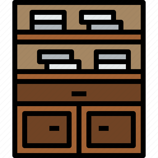 bookself, equipment, furniture, home, household, object icon