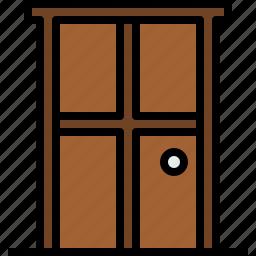 door, equipment, home, household, object icon