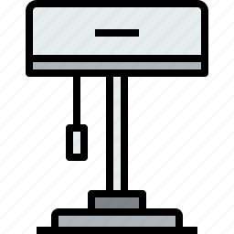appliances, equipment, home, household, lamp, object icon