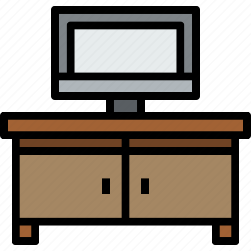 appliances, equipment, furniture, home, household, object, televison icon