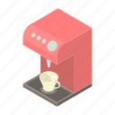 beverage, caffeine, cartoon, coffee, machine, maker, modern icon