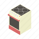 appliance, cartoon, cooking, heat, kitchen, oven, stove