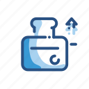 appliance, bread, household, toaster icon