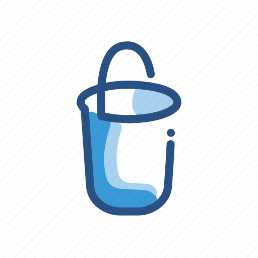 bucket, clean, cleaning icon