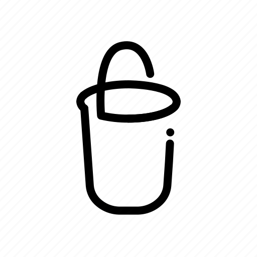 bucket, clean, cleaning, housekeeping, washing icon