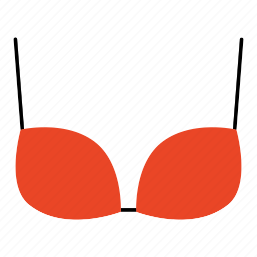bikini, bra, brassiere, colored, household, lingerie, underwear icon