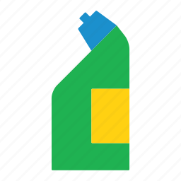bottle, cleaning, colored, disinfectant, household, toilet, toilet disinfectant icon