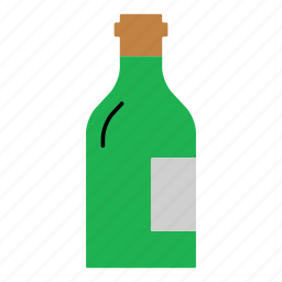 champagne, colored, household, red wine, white wine, wine, wine bottle icon