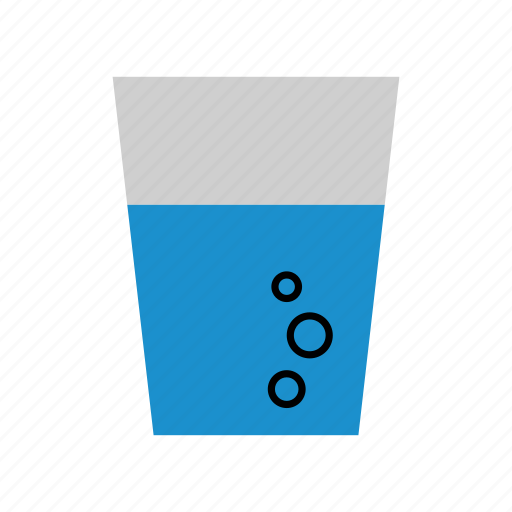 beverage, colored, drink, glass of water, household, water, water glass icon