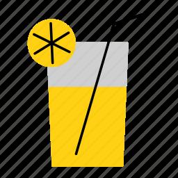 beverage, colored, drink, household, juice, lemonade, lemonade glass icon