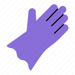 colored, gloves, hand protection, hands, household, latex gloves, rubber gloves icon