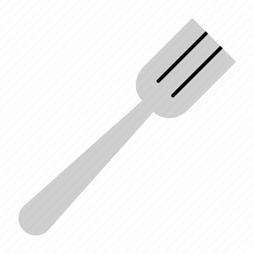 colored, cutlery, dine, eating, fork, household, meal icon