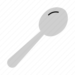 colored, cutlery, eating, household, meal, soup, spoon icon