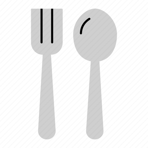 cutlery, eating, fork, household, meal, spaghetti, spoon icon
